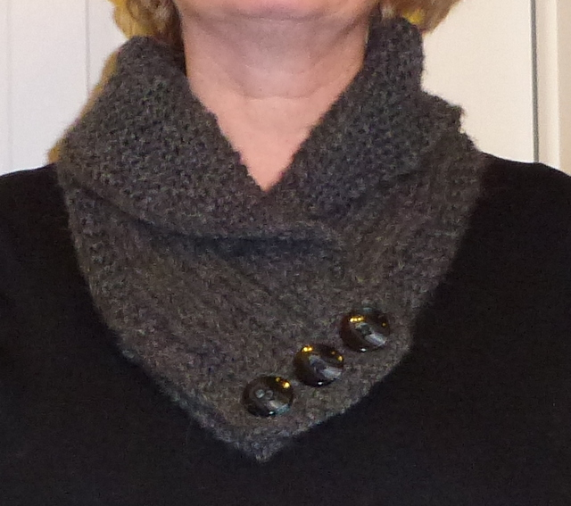 NOT JUST ABOUT KNITTING: Shawl Collared Cowl