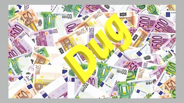 Novac na gomili - evri