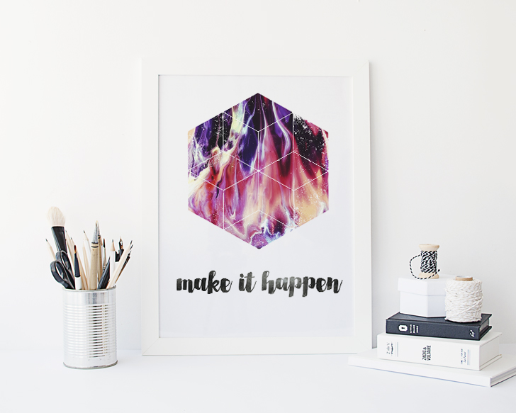 3 Geometric Encouragement Prints