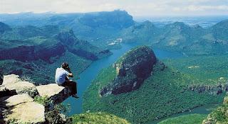 Pemandangan dari atas Blyde River Canyon