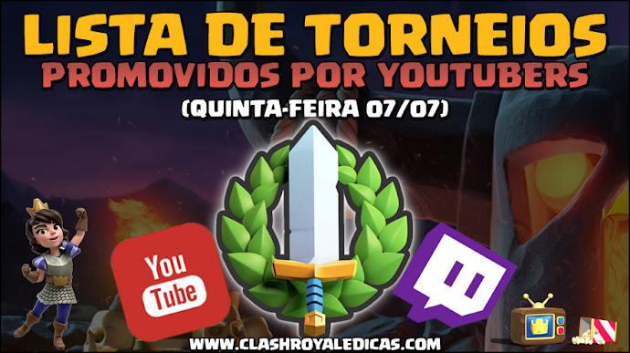 Torneios de Youtubers 07/07 - Horários e informações - 1