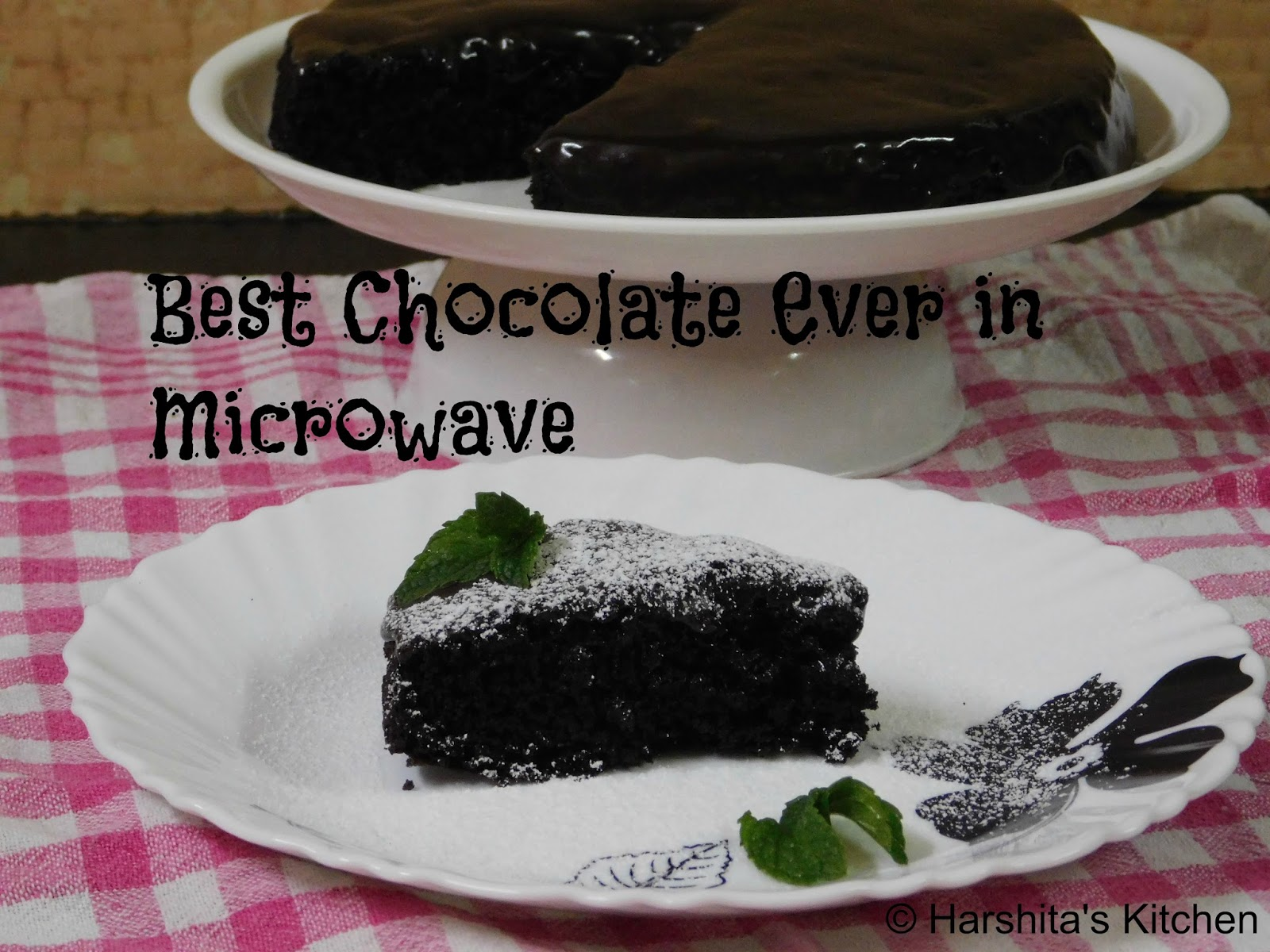Harshita's Kitchen: Best Chocolate Cake Ever in Microwave ...