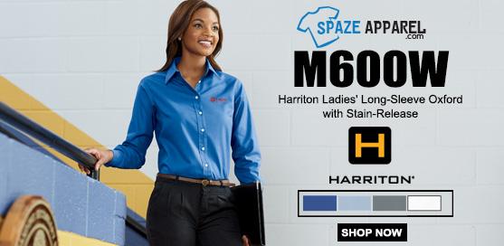 Harriton M600W Ladies' Long-Sleeve Oxford Shirt