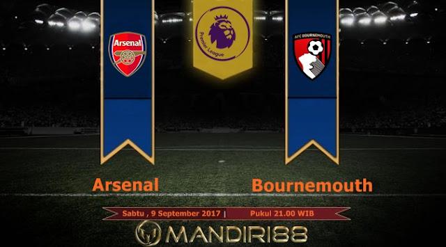 Arsenal akan menghadapi Bournemouth pada pekan keempat Premier League di Stadion Emirates Berita Terhangat Prediksi Bola : Arsenal Vs Bournemouth , Sabtu 09 September 2017 Pukul 21.00 WIB