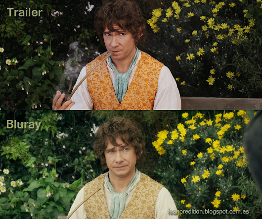 The Hobbit - Trailer VS Bluray