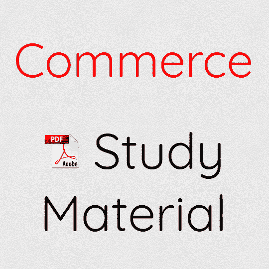 Commerce Study Material