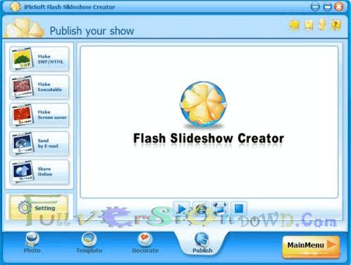 iPixSoft Flash Slideshow Creator Full Crack