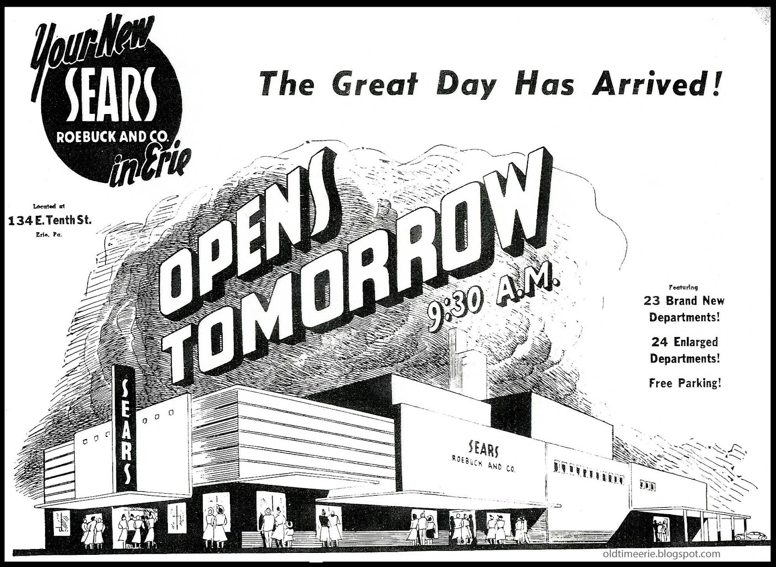 old time erie august 2012 Queen Band 1970 sears grand opening 134 e 10th st in 1948 erie pa