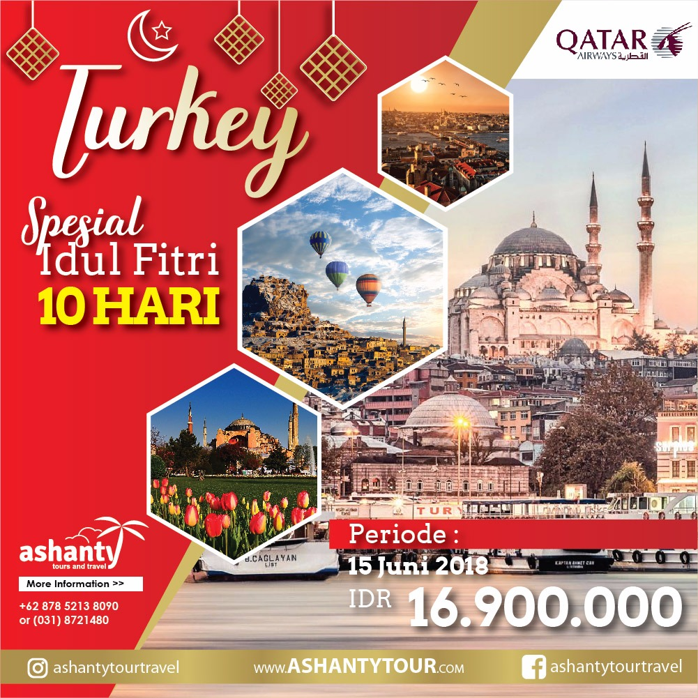 Turki Lebaran Tour 2018 (10D)