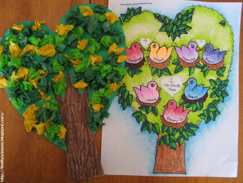 A Family Tree Craft For Grandparent S Day Thrifty Scissors