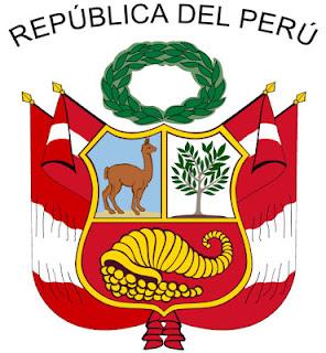 Dibujo del Gran Sello del Perú a colores