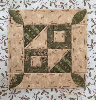 Dear Jane Quilt - Block J8 Anna's Anchor