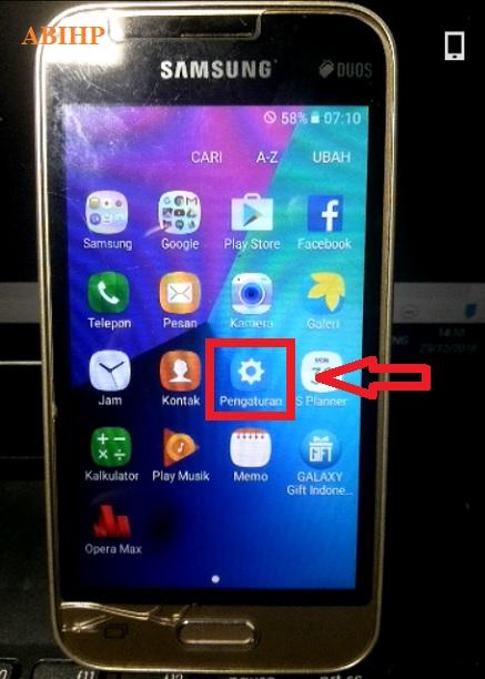Pilih lagi pengaturan pada Samsung v2 j106b.