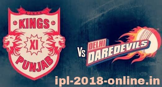 KXIP VS DD Live score IPL 2018