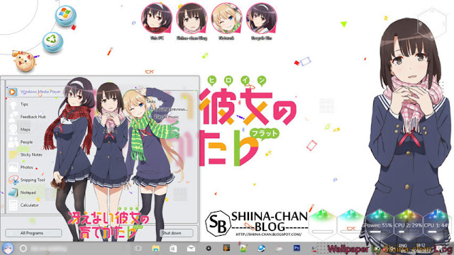 Windows 10 Ver. 1703 Theme Saekano: Saenai Heroine no Sodatekata by Enji Riz