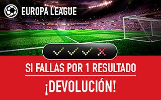 sportium promocion E. League: Combinada 'con seguro' 5 abril