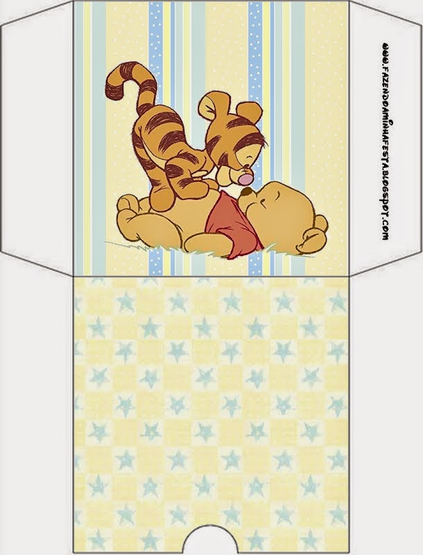 Winnie the Pooh Baby: Free Printable Candy Buffet Labels.