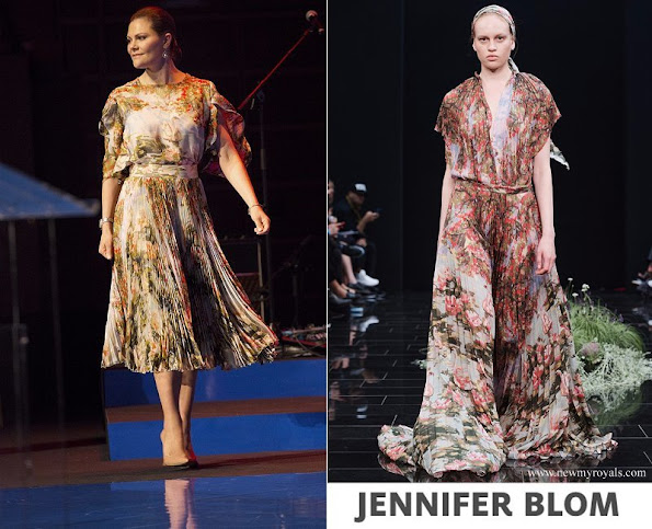 Crown Princess Victoria wore Jennifer Blom Frida Dress
