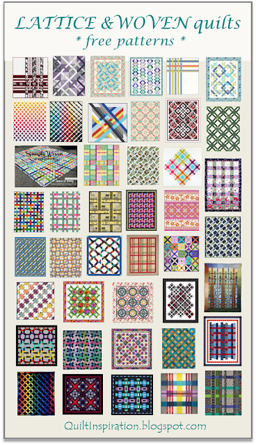 Quilt Inspiration: Free pattern day: Lattice and Woven quilts : quilt inspiration free patterns - Adamdwight.com