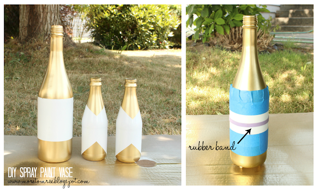 DIY spray paint bottle gold metallic
