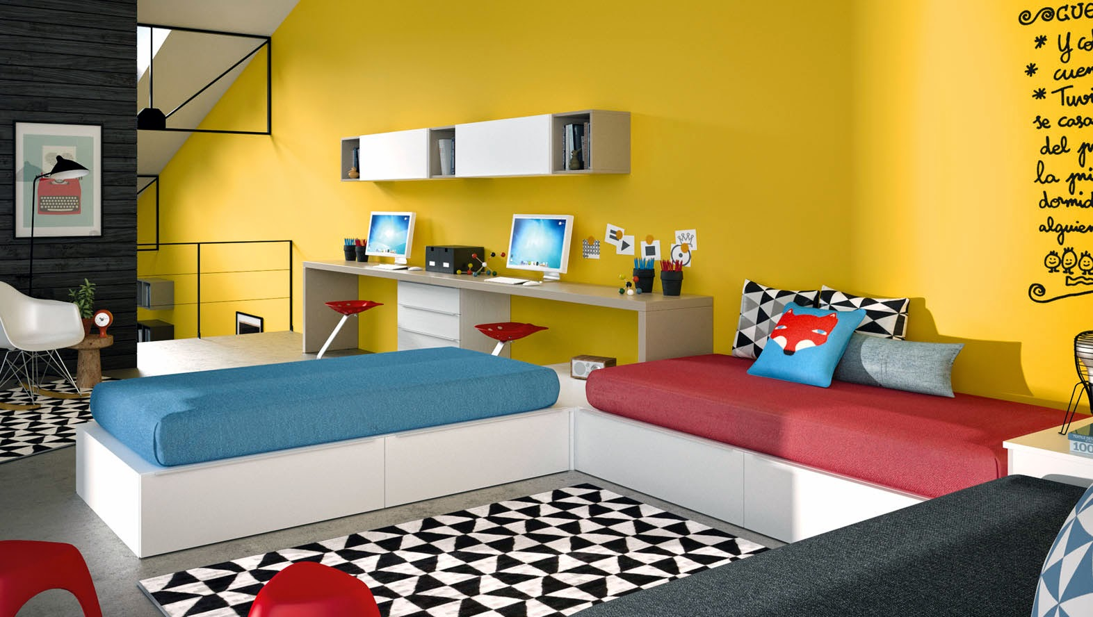 dormitorios juveniles para dos hermanos
