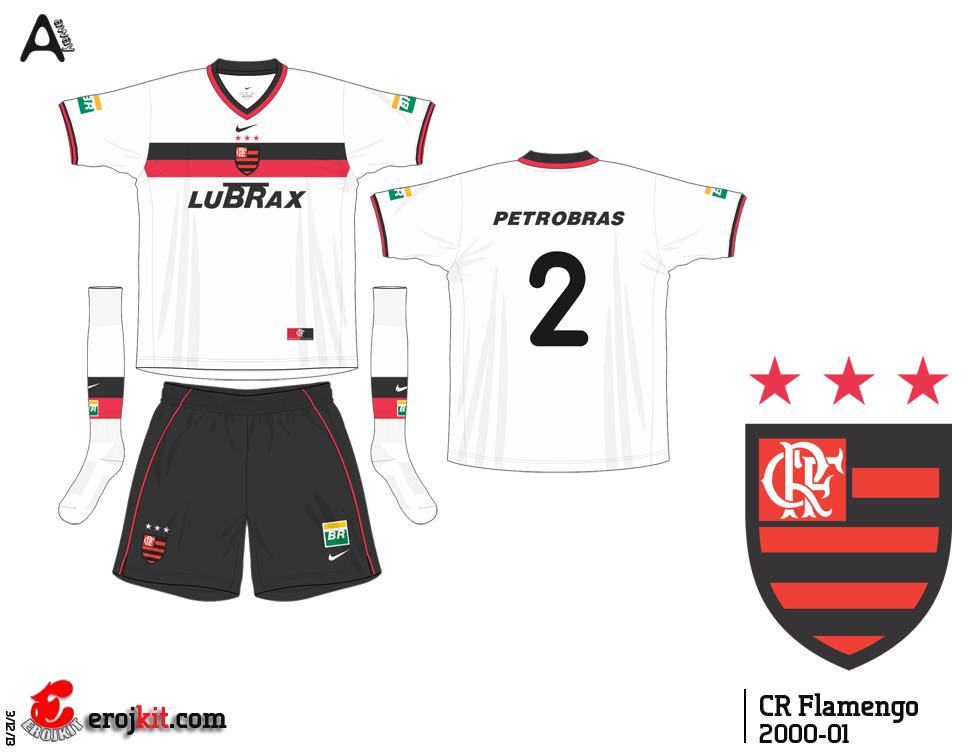 Camisa usadas pelo Flamengo no tricampeonato de 2001 0279d34fb591d