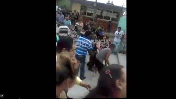 Padres de familia arman pelea campal en escuela primaria de Ecatepec (VIDEO)