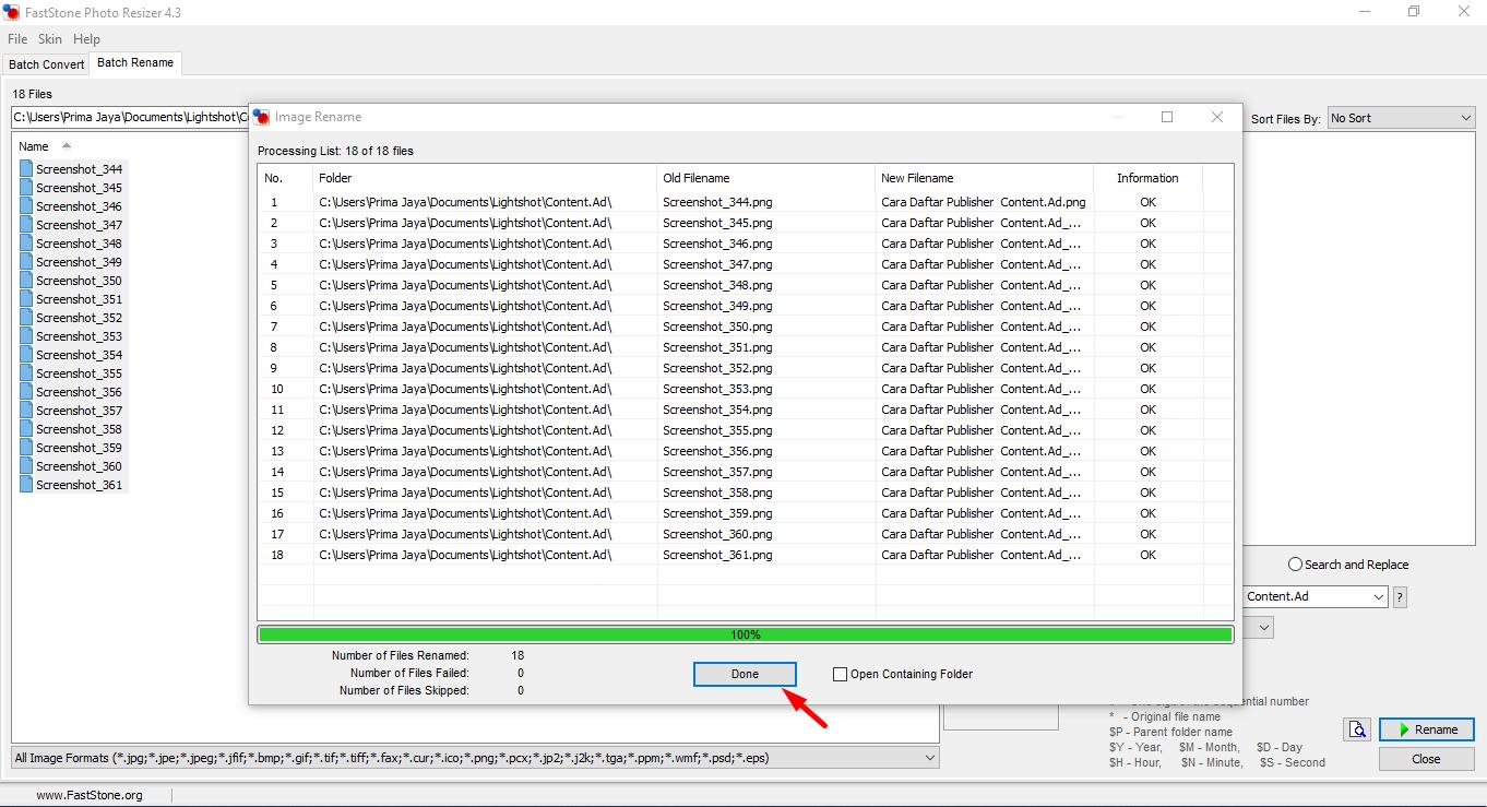 Cara Cepat Rename Multi File Gambar