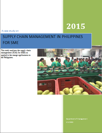 Assignment, Lessons and Lecture Preparation: SUPPLY CHAIN