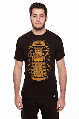 "Johnny Cupcakes x Doctor Who ""Cake-Bot"" Dalek Limited Edition Black T-Shirt"