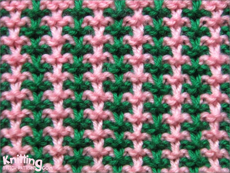Color Combinations using 3 and 1 Tweed Stitch Pattern