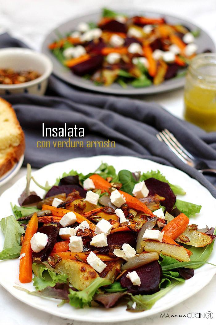 insalata di verdure arrosto