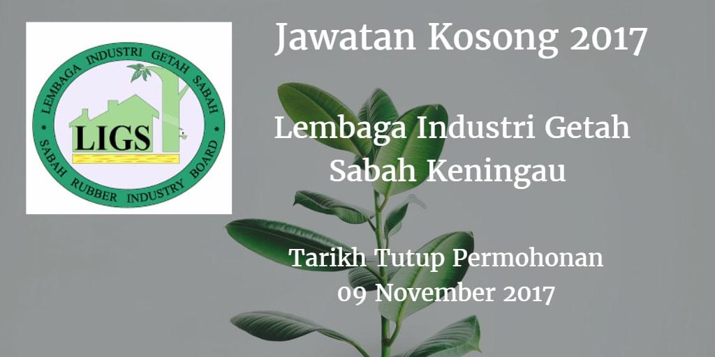 Jawatan Kosong Lembaga Industri Getah Sabah Keningau 09 November 2017
