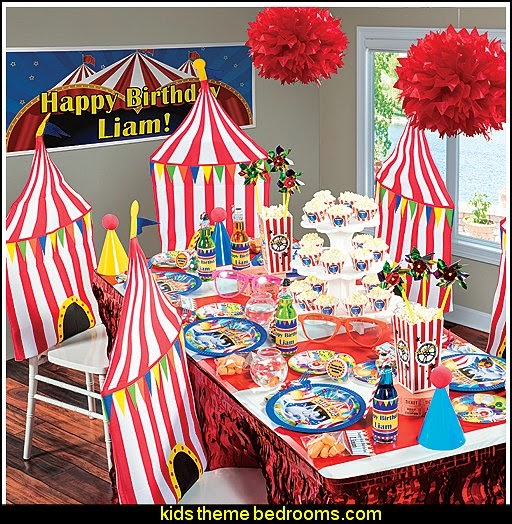circus carnival themed birthday party - Big Top Party Supplies - circus themed party decorations