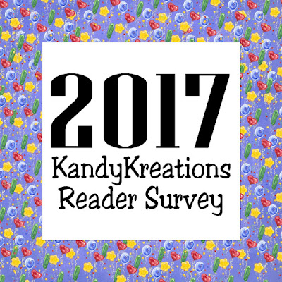 Enter to win one of 5 memberships to our Weekly Candy Bar Membership Club by taking our 2017 Reader Survey.  You can help make this new year a sweet celebration and your take your card giving to a whole new level.