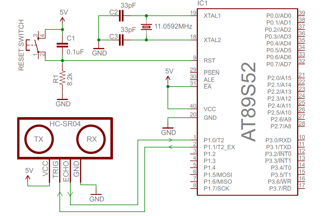 Distance Measurement By Ultrasonic Sensor Circuit Diagram Manual Transducerultrasonic Circuitultrasonic Open Electronics Project Hc Sr04 Interfacing With 8051 Noise Detector