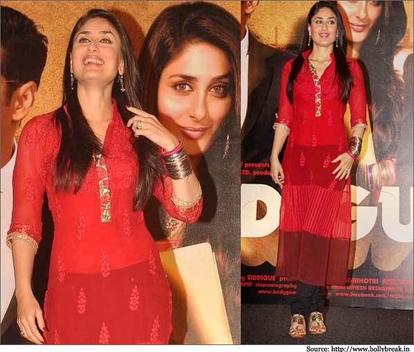 Kareena Kapoor Red Hot Kurti