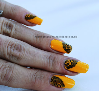 lace water decals nail art