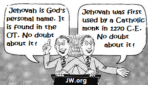Jehovah's Witnesses Exposed!: Is God's Name JEHOVAH? Part 1