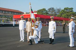 President's Colour to INS Shivaji