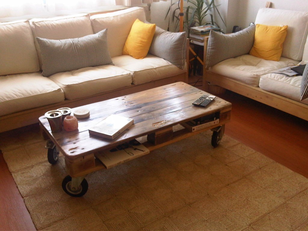 Pallet Coffee Tables - Big Sq. Espresso Table