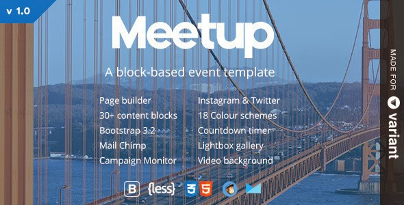 Premium Event Template With Page Builder