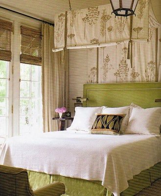 loft & cottage: tuesday tip: fabric over the bed
