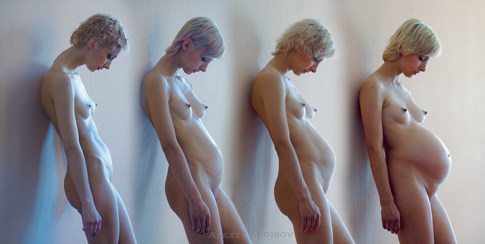 naked pregnant before and after