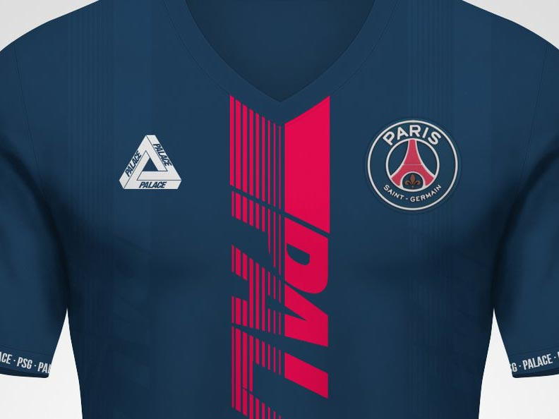 new styles a6ada dfa65 Palace x PSG Concept Jersey by Kifth - Footy Headlines