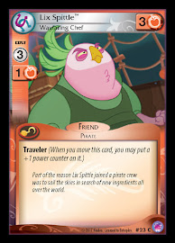 My Little Pony Lix Spittle, Wayfaring Chef Seaquestria and Beyond CCG Card