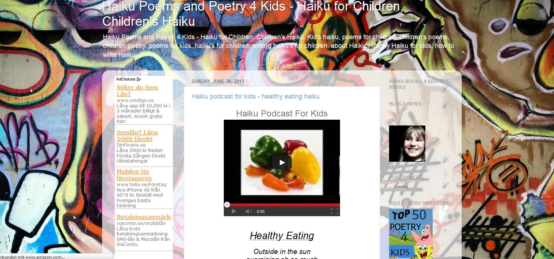 Haiku Poems and Poetry 4 Kids - Haiku for Children, Children's Haiku