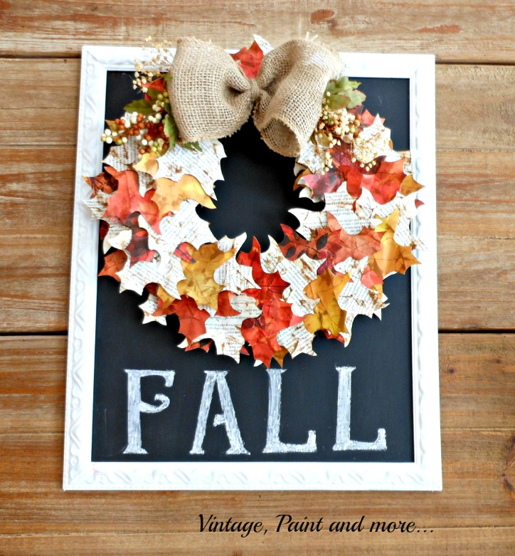 Vintage, Paint and more... Paper Leaf Wreath
