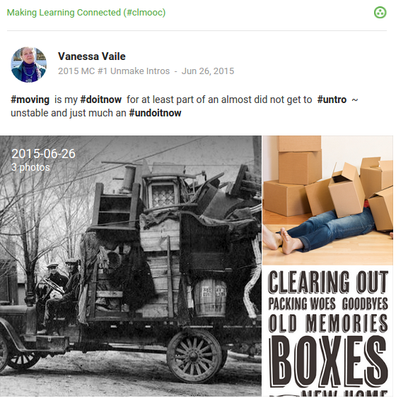 moving related images: vintage overloaded truck, buried in packing boxes, clearing out meme