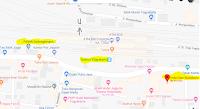 Peta lokasi Titik Jemput Penumpang Ojek Online Gojek-Grab di Stasiun Tugu Yogyakarta